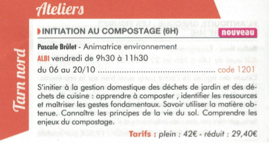 Initiation au compostage à l'UPT