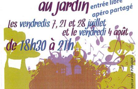 Apéros-Concerts au Jardin à Lapanouse