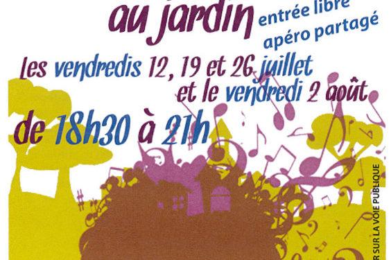 A Lapanouse, Concerts au jardin: saison 2019!