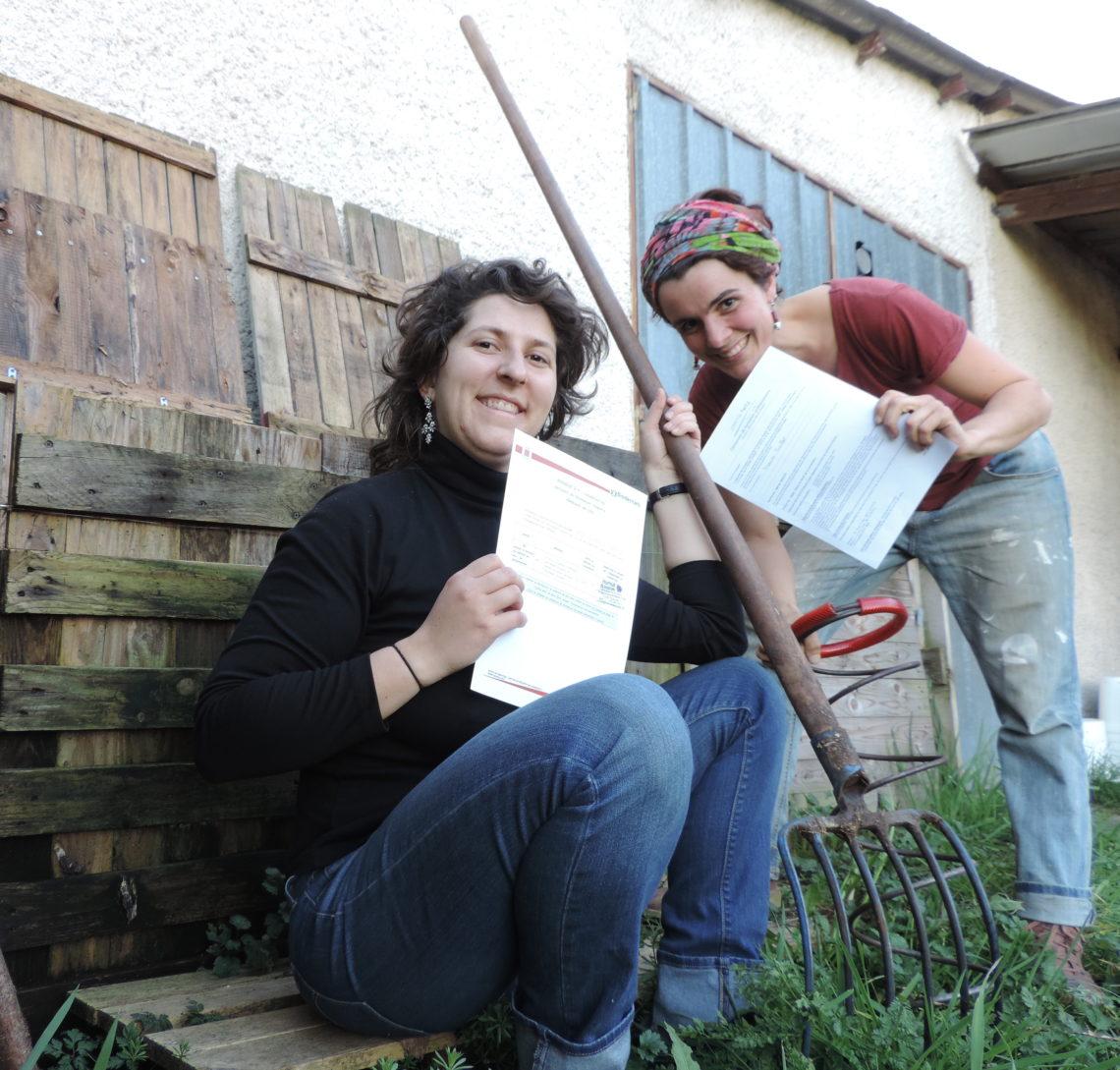 Deux maîtres composteures et une guide composteuse