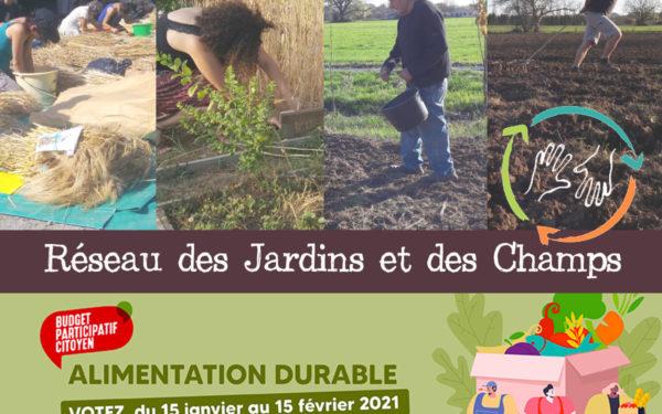 """Votez pour notre projet """"Réseau des jardins et des champs"""""""